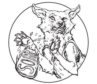 Hình ảnh Chú Chó Sói cầm thanh xà phòng