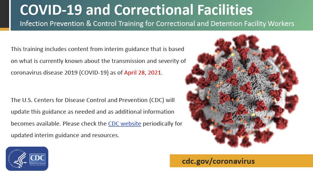 imagen de la primera página del pdfCOVID-19 y establecimientos correccionales Capacitación para trabajadores de establecimientos correccionales y de detención