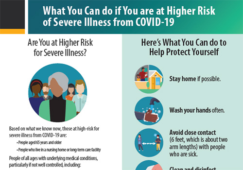 What you can do if you are at higher risk of severe illness for COVID-19