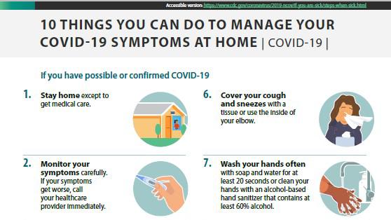 ảnh thu nhỏ để in ra: 10 điều quý vị có thể làm để kiểm soát các triệu chứng COVID-19 tại nhà