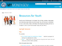 MyMoney.gov Resources for Youth