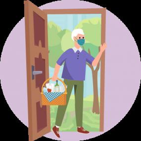 un invitado en la puerta