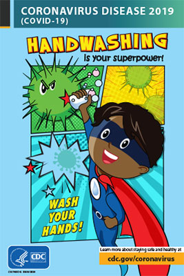 Children's activity book: Handwashing is your superpower!