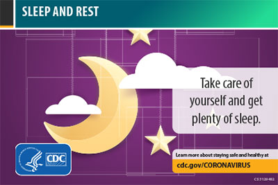 Sleep and rest. Take care of yourself and get plenty of sleep.