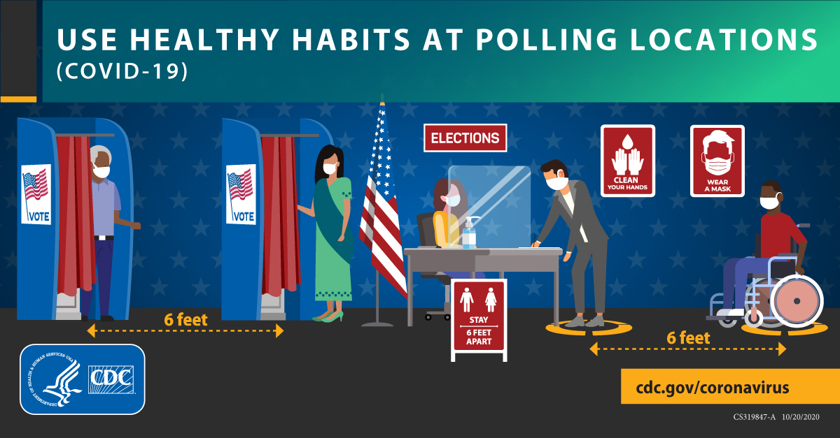 Use Healthy Habits At Polling Locations (COVID-19) 1200x627