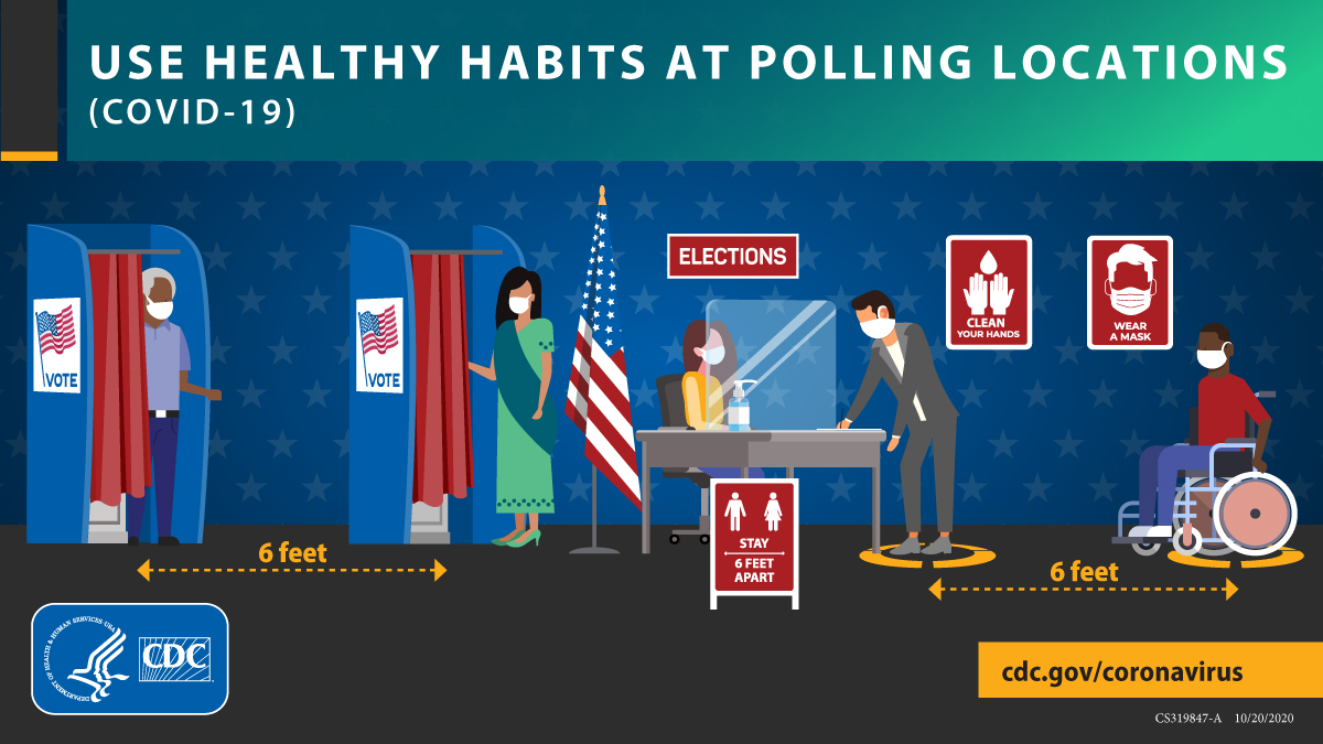 Use Healthy Habits At Polling Locations (COVID-19) 1200x675