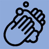 icon: hands washing with soap