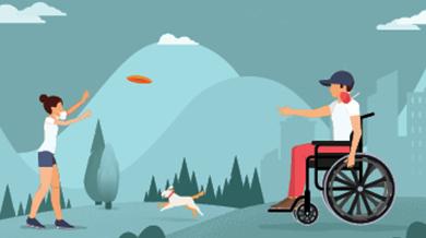 ilustración de personas disfrutando una actividad al aire libre