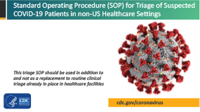 S.O.P. for Triage of Suspected COVID-19 Patients in non-US Healthcare Settings