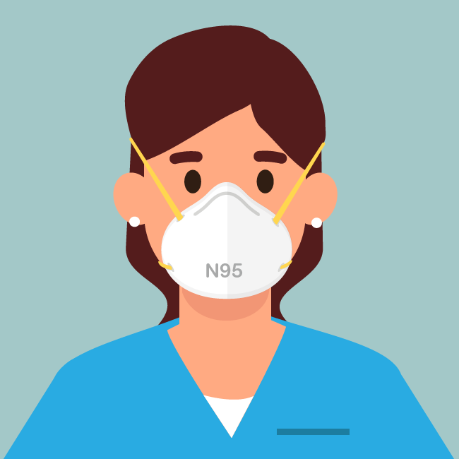 Reserve las mascarillas de respiración N95 para los trabajadores de la salud.
