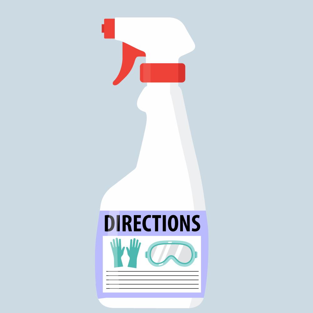 Hình minh họa một chiếc chai đề hướng dẫn sử dụng