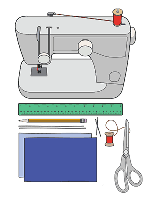 Sewing a facemask - materials needed