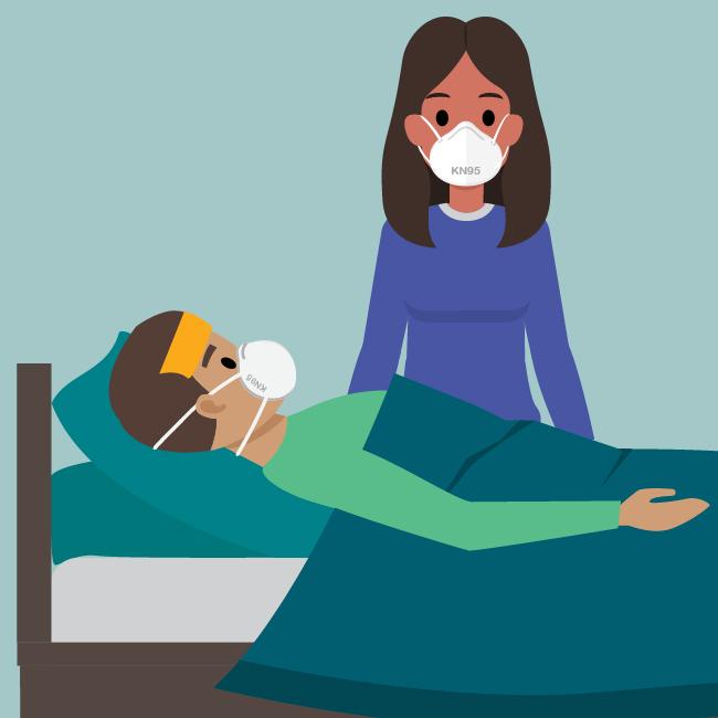 Cuidar a una persona enferma conCOVID-19