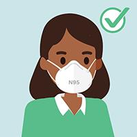 N95 호흡보호구는의료 종사자에게양보하세요.