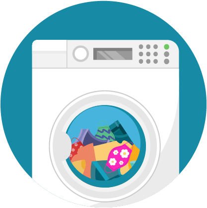 Illustration clothes in dryer