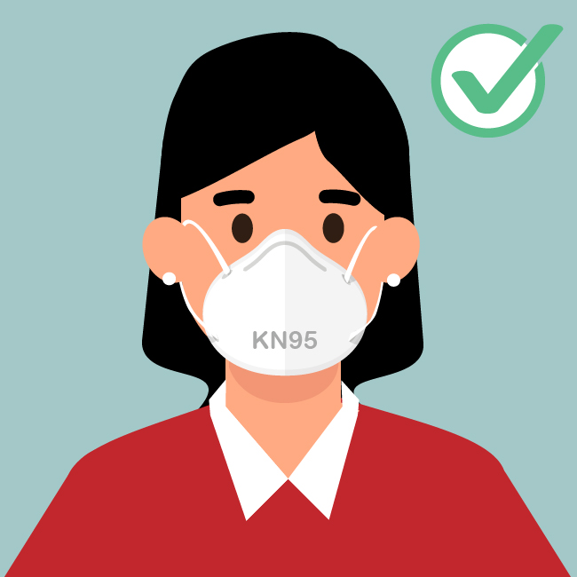 KN95 masks that meet requirements similar to those set by CDC's National Institute for Occupational Safety and Health