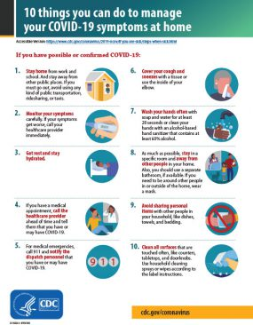 10 Things You Can Do to Manage your COVID-19 Symptoms at Home