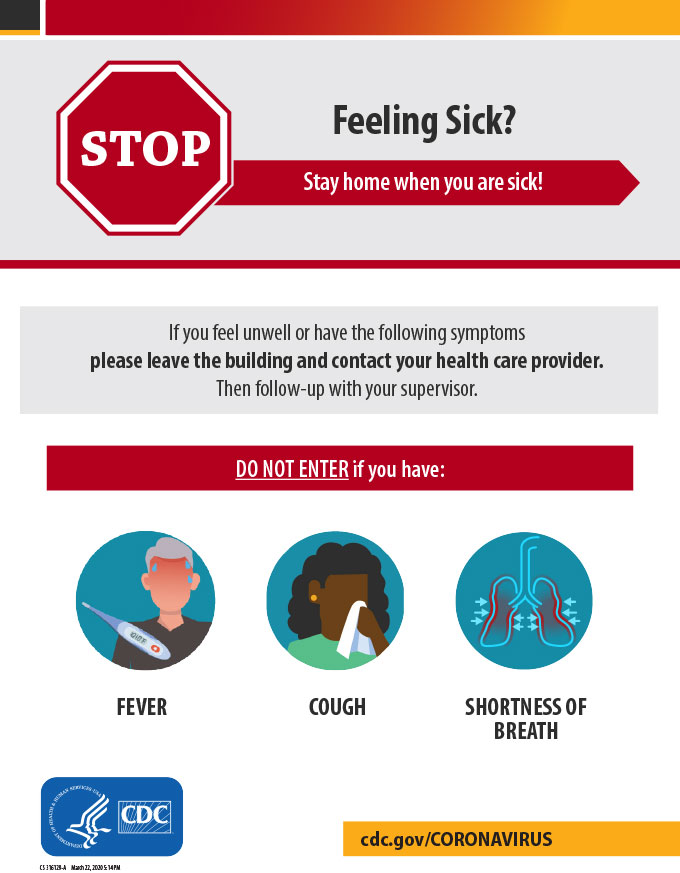 Stay home when you are sick!