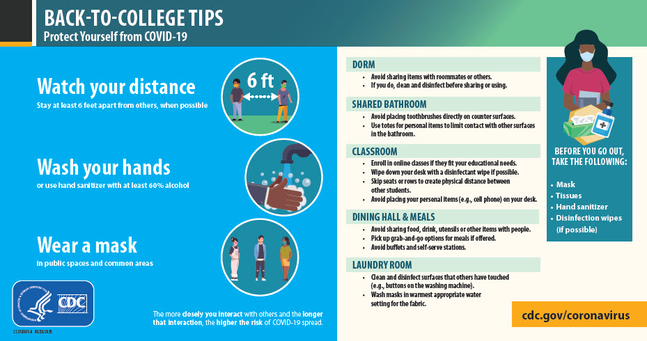 Back-to-college tips for COVID-19