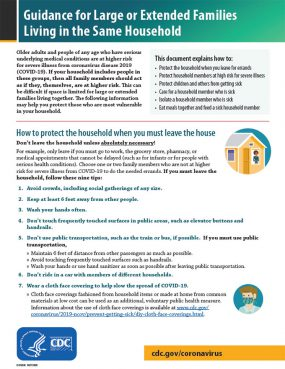 Guidance for Large or Extended Families Living in the Same Household