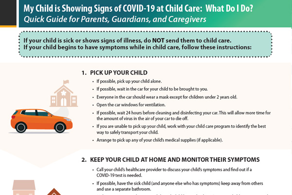 Parents Quick Guide Symptoms of COVID-19 at Child Care