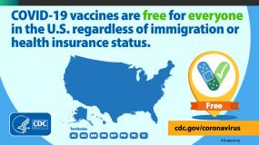 las vacunas contra elCOVID-19 son gratuitas