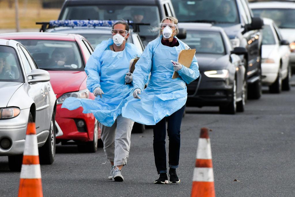 CDC deployers in blue