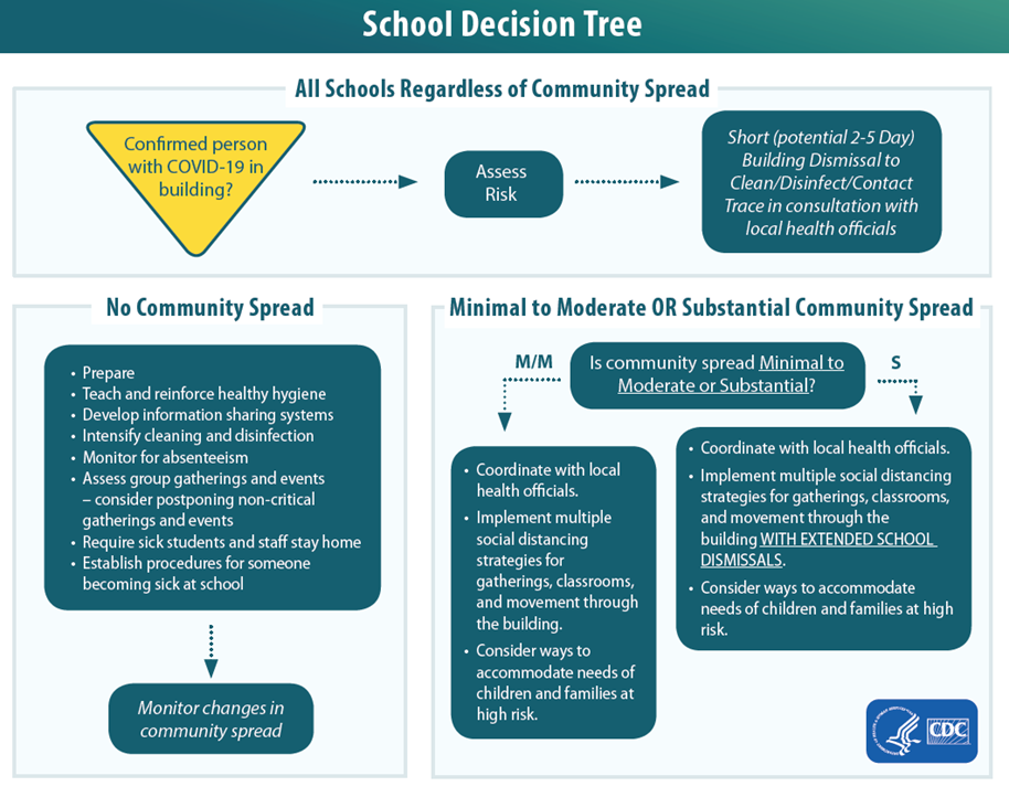 School decision tree for COVID-19 cases