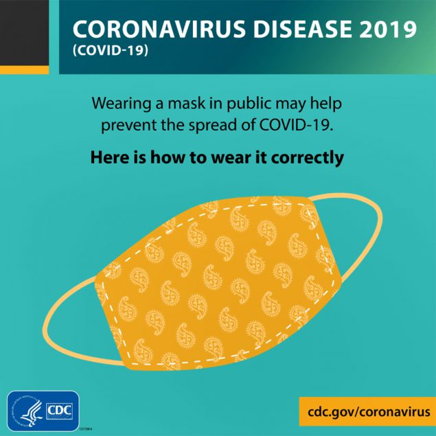 在公共场合佩戴口罩可能有助于防止COVID-19传播