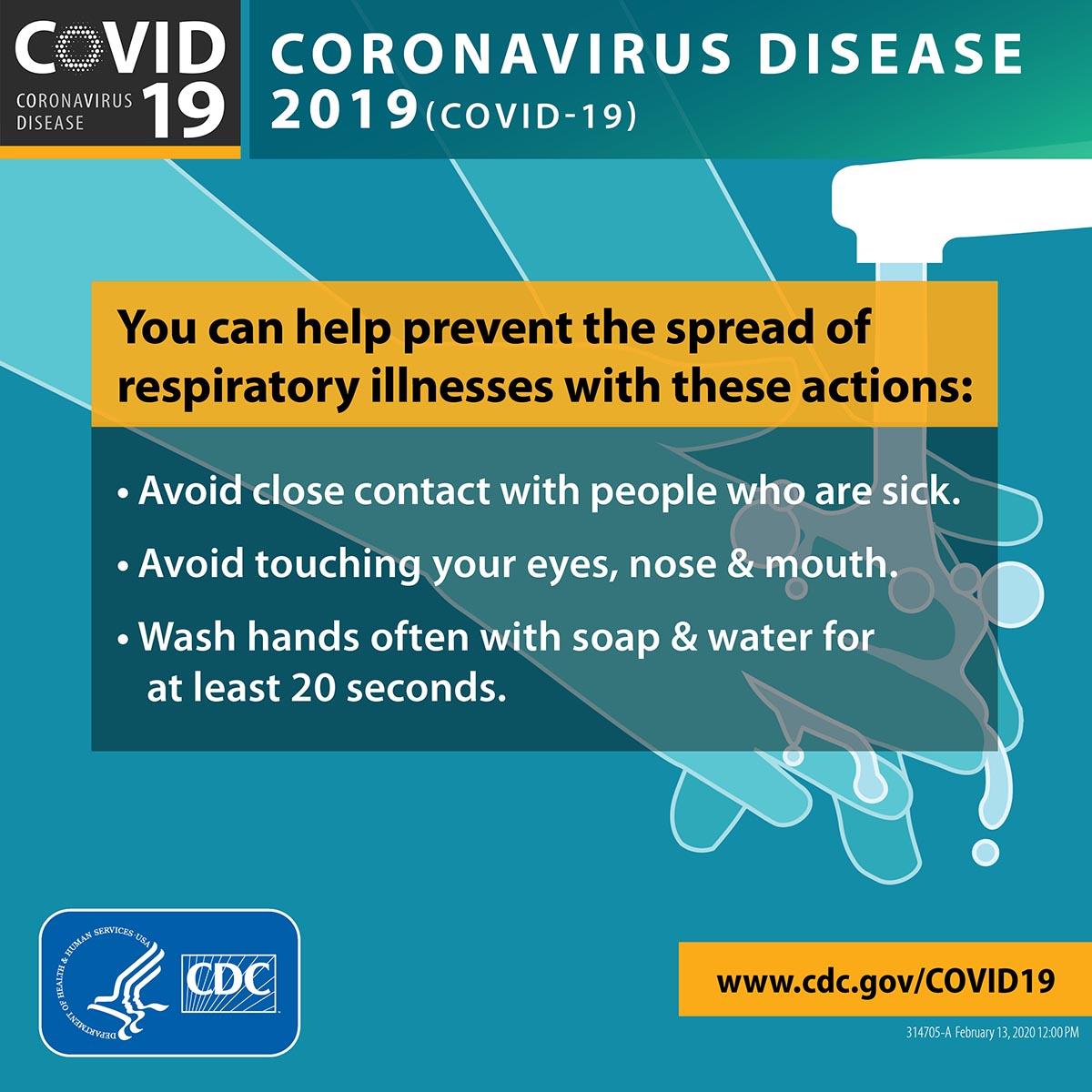 Infographic: Coronavirus Disease 2019 (COVID-19). You can help prevent the spread of respiratory illness