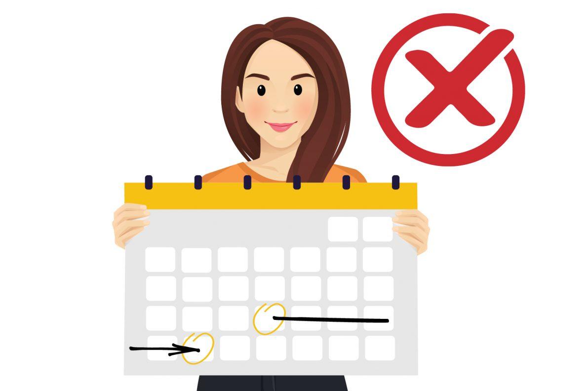 Women holding up a calendar