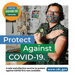 COVID-19로부터 남성 교육자 보호 COVID-19로부터 보호해주는 안전하고 효과적인 수단인 백신을 현재 접종받을 수 있습니다. www.cdc.gov
