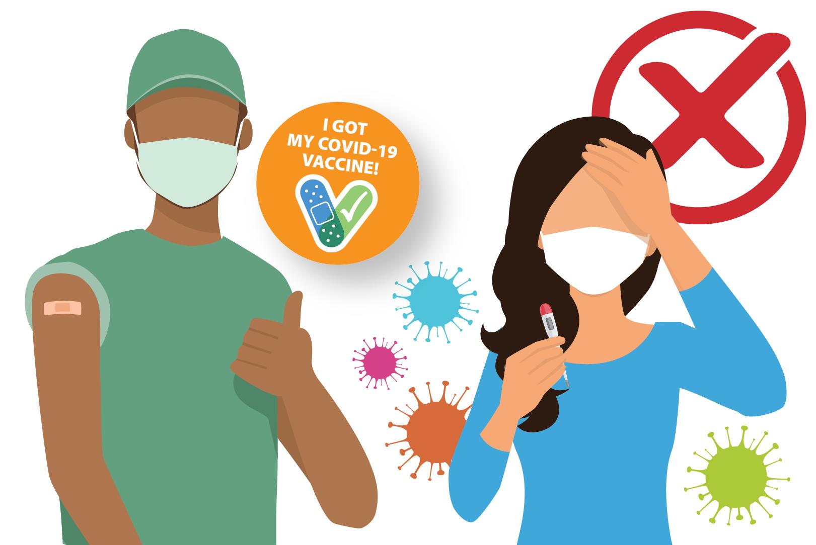 COVID-19 백신은 COVID-19 원인 바이러스의 변이를 생성하거나 유발하지 않습니다.