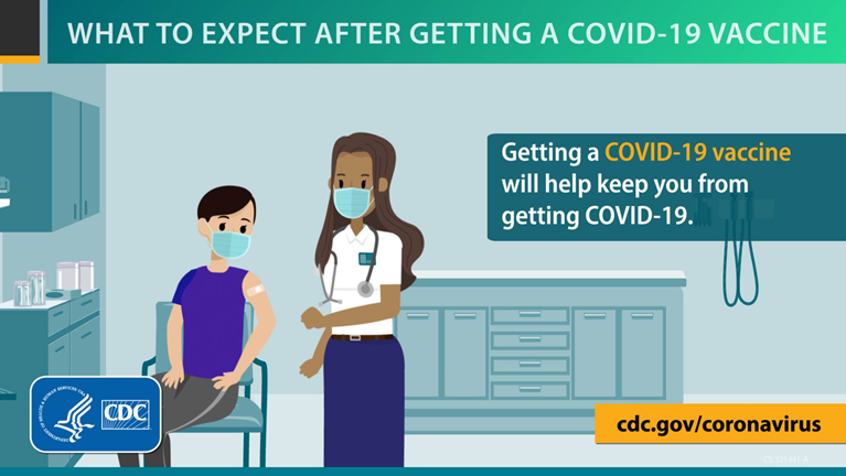 video thumbnail - What to Expect after Getting a COVID-19 Vaccine