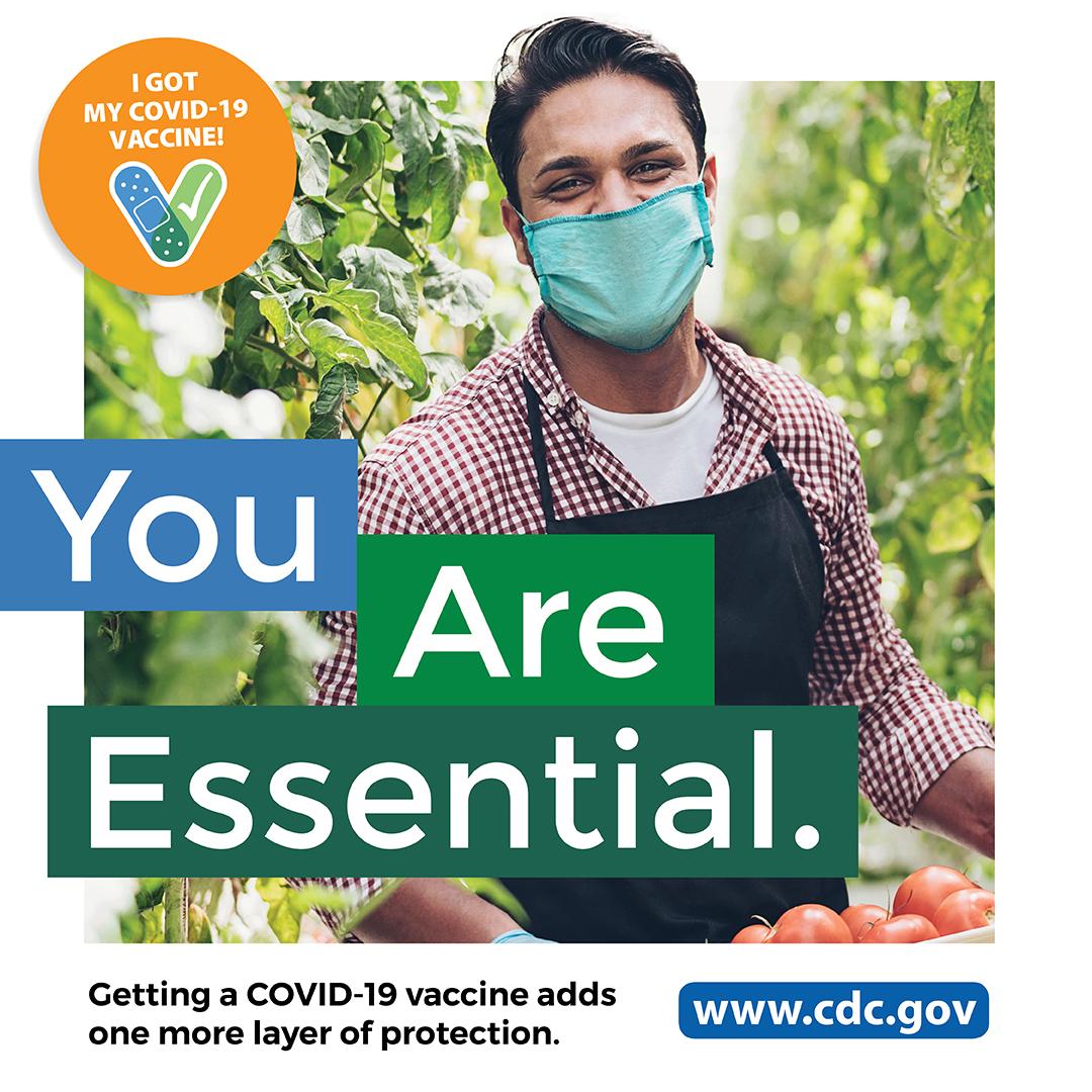 CDC COVID 필수 노동자 - 농부