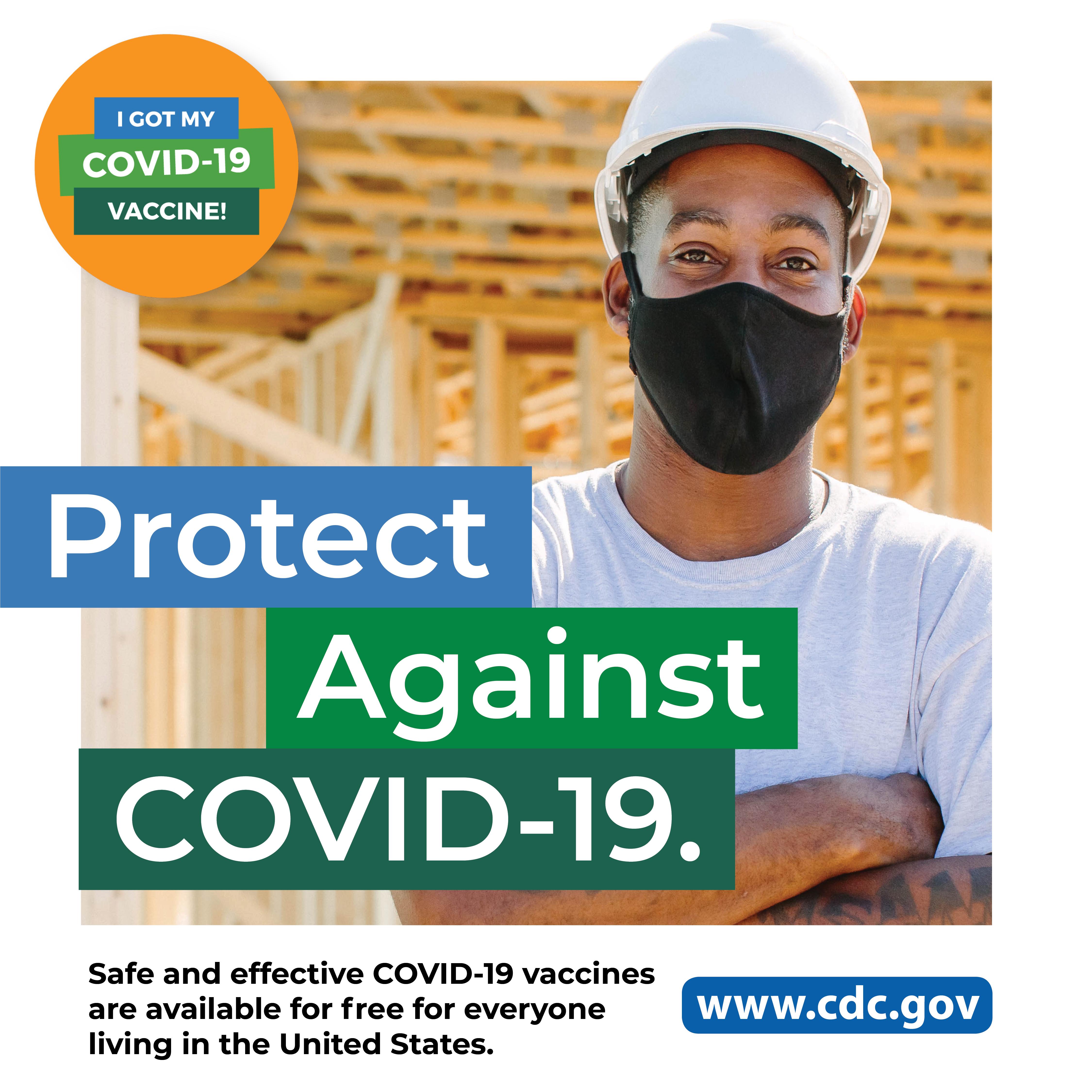 CDC - COVID-19 - Departamento de salud: trabajador de construcción