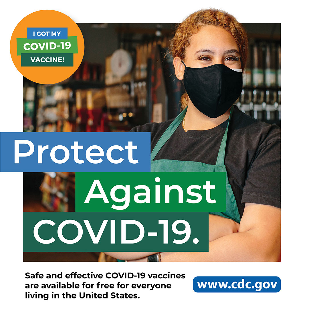 CDC - COVID-19 - Departamento de salud: trabajadora de tienda