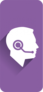 person with headset on icon