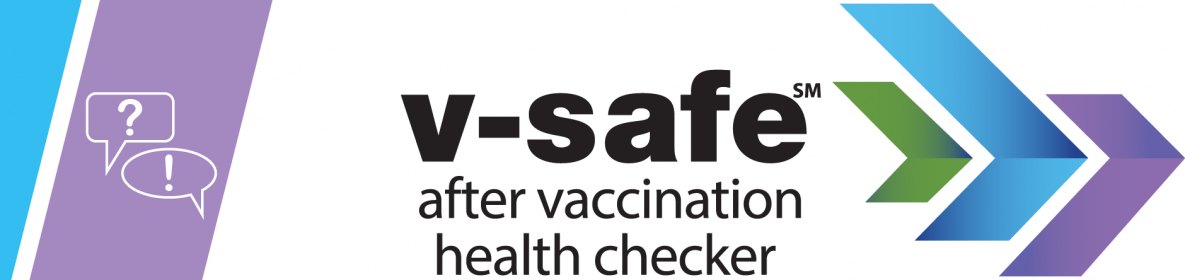 v-safe after vaccination health checker graphic