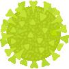 ilustración de un virus en verde