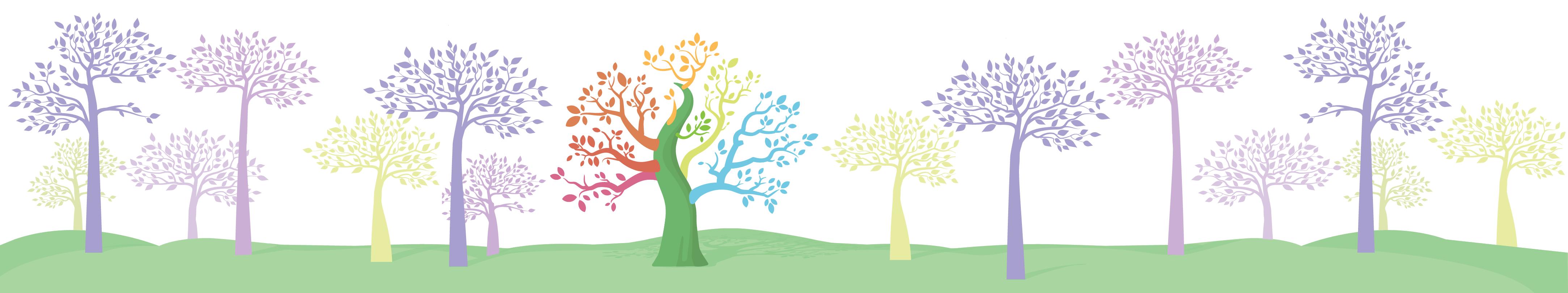 ảnh minh họa cây, một cây có các chi nhiều màu