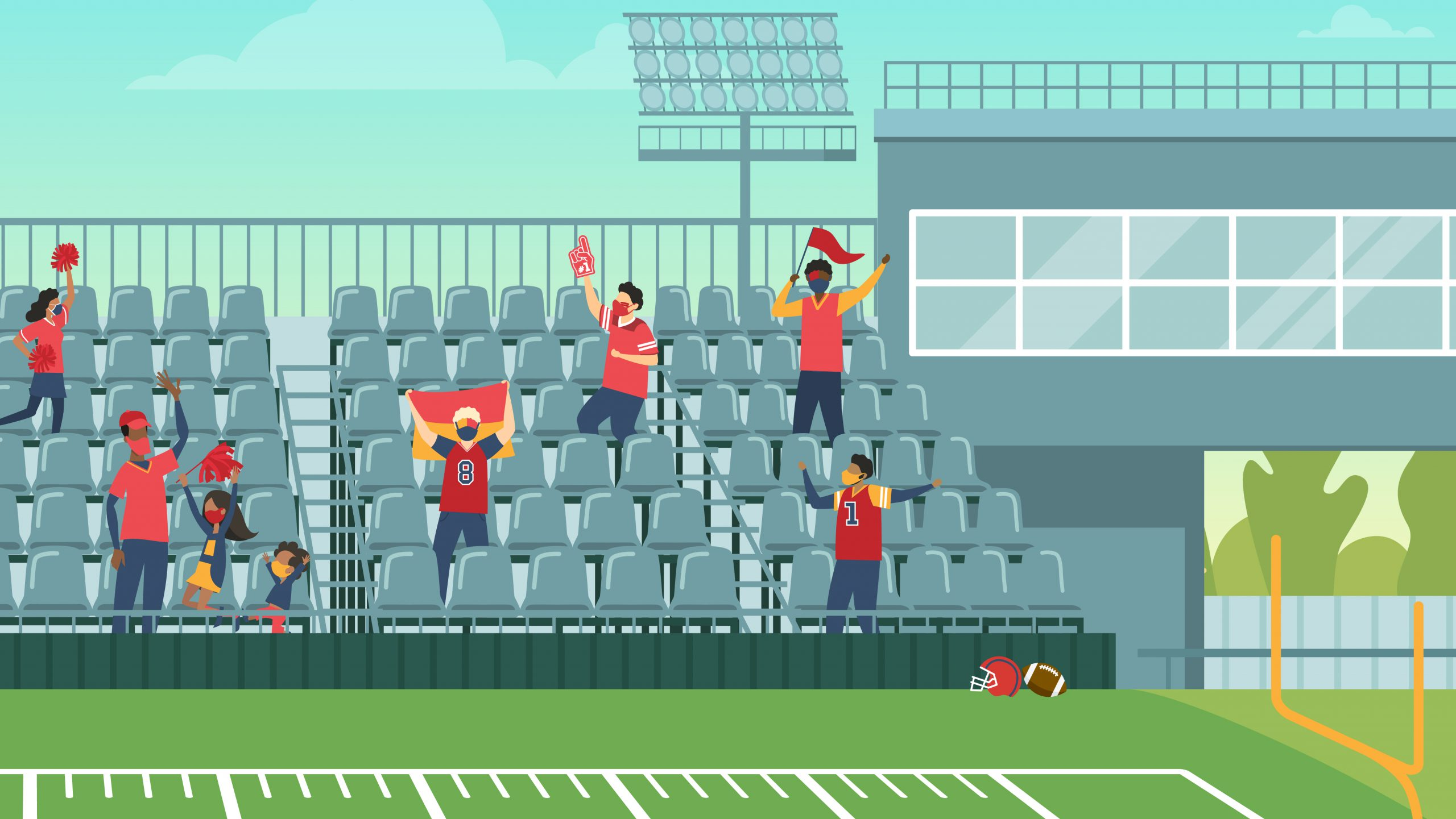 Image of people in a stadium cheering