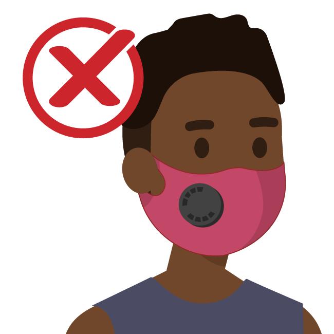 No usar mascarillas con válvula