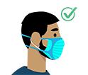 gráfico de un hombre con barba utilizando un accesorio de ajuste desechable