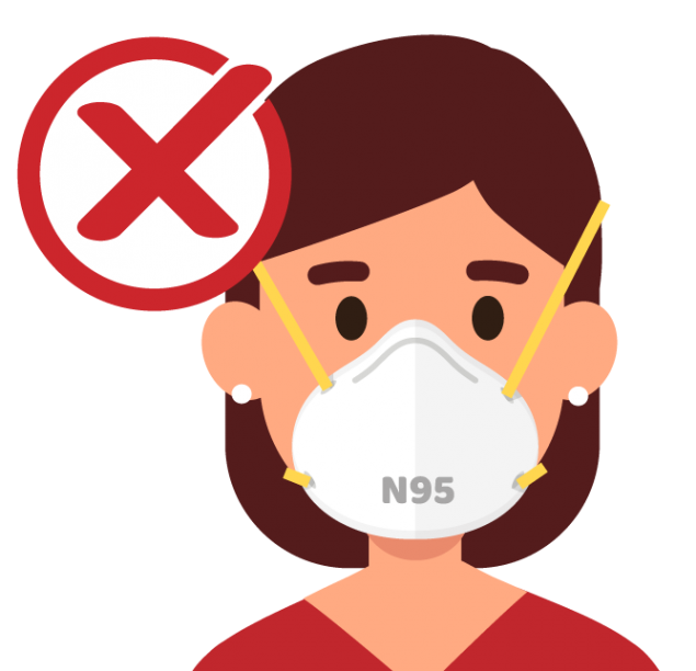 NO ELIJA mascarillas que estén destinadas a trabajadores de la salud como las mascarillas de respiración N95 o las mascarillas quirúrgicas