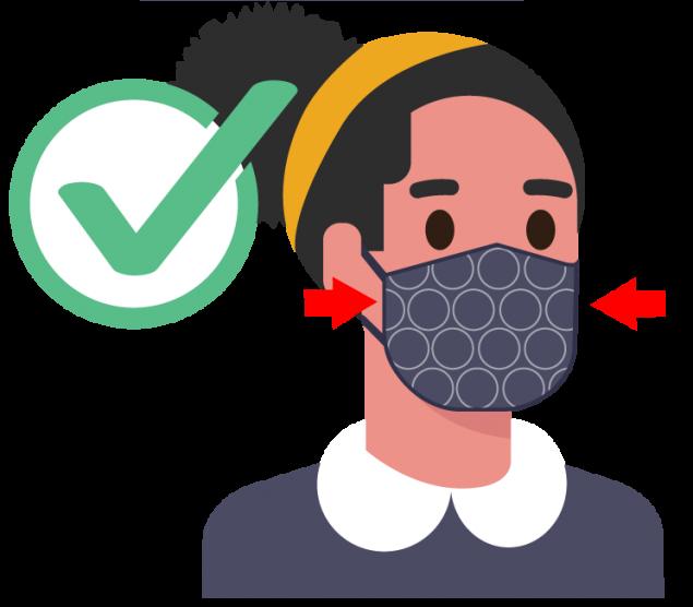 要选择紧贴脸部两侧,没有缝隙的口罩。