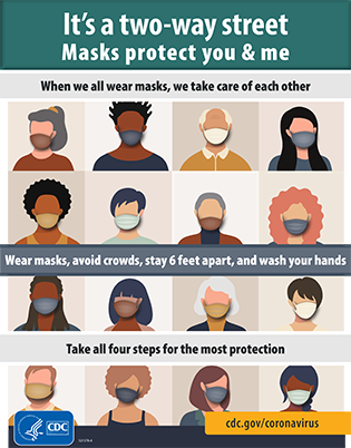 It's a two-way street - masks protect you and me