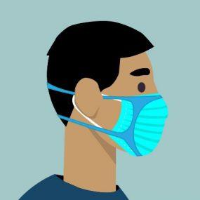 一名戴着口罩的男子