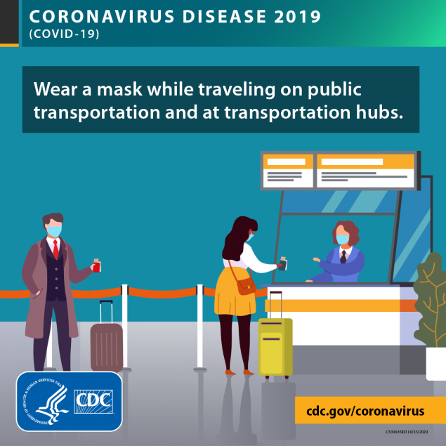 COVID、机场、口罩、保持社交距离