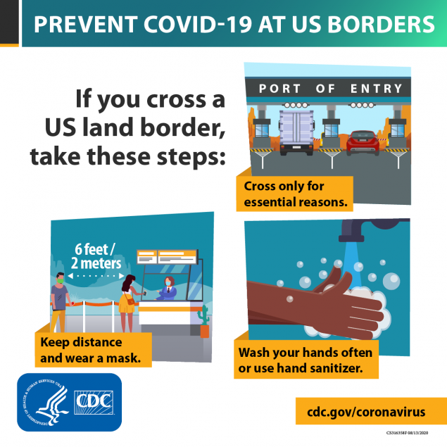 Ngăn ngừa Covid-19 tại biên giới Hoa Kỳ -1200x1200